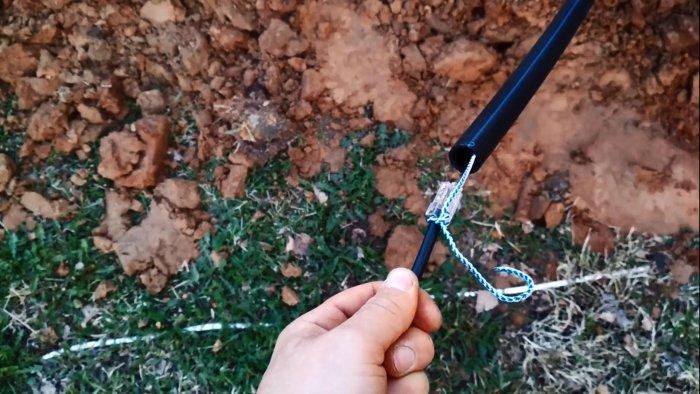 Как быстро протянуть провод через 25 метровую трубу