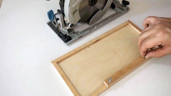 Как сделать простую каретку чтобы делать идеальный рез ручной циркуляркой