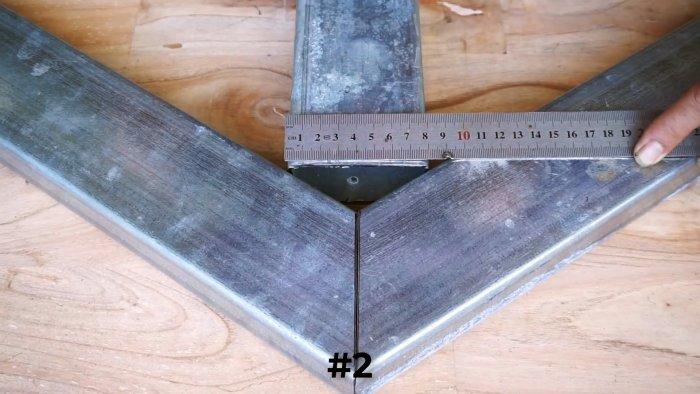 Как разметить концы профильных труб для резки под различными углами и последующего соединения