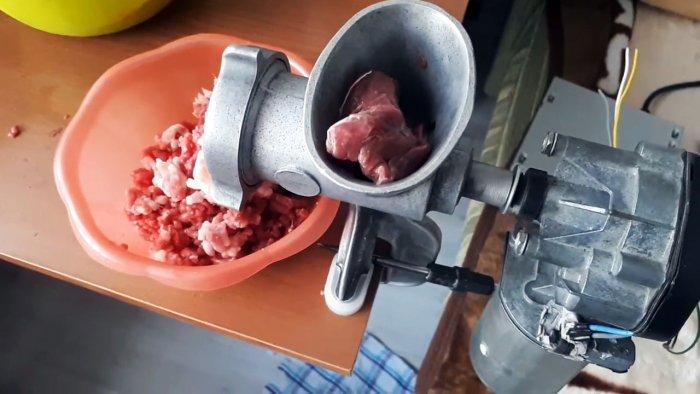 Как сделать обычную мясорубку электрической
