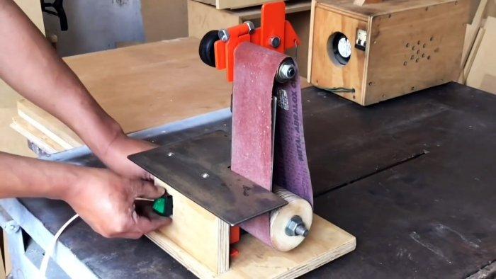 Как сделать ленточный шлифовальный станок на базе двигателя стиралки