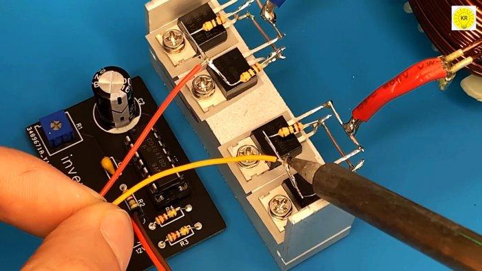 Как сделать простой инвертор 12-220 В мощностью 2500 Вт частотой 50 Гц