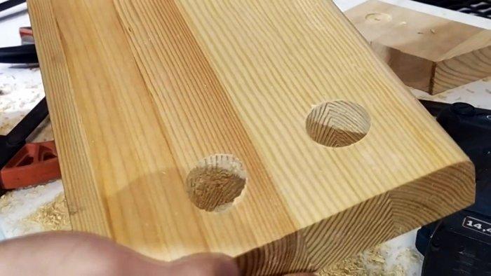 Как просверлить дерево перовым сверлом без сколов