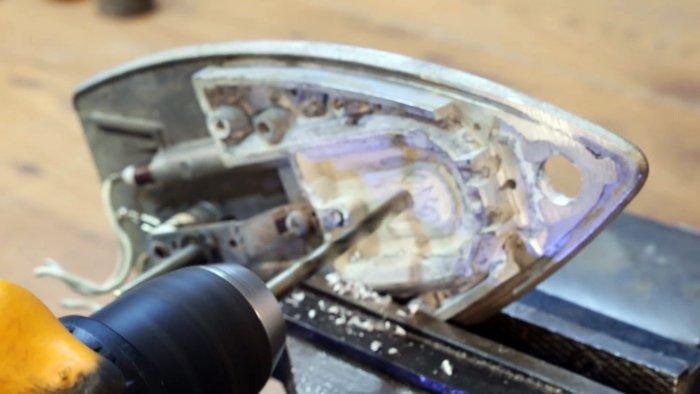 Как из старого утюга сделать паяльник для пайки ПП труб своими руками