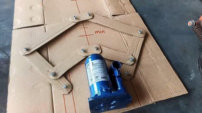 Самодельная приставка для увеличения в 2 раза высоты подъема гидравлического домкрата