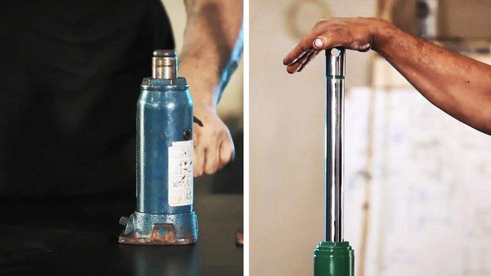 Как намного увеличить длину хода бутылочного домкрата