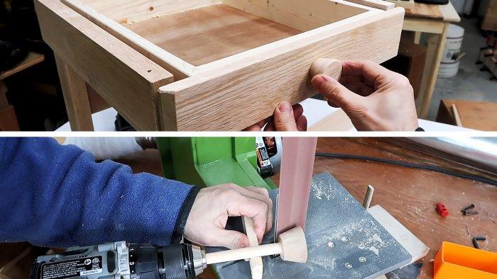 Как просто сделать круглые ручки для мебели без токарного станка