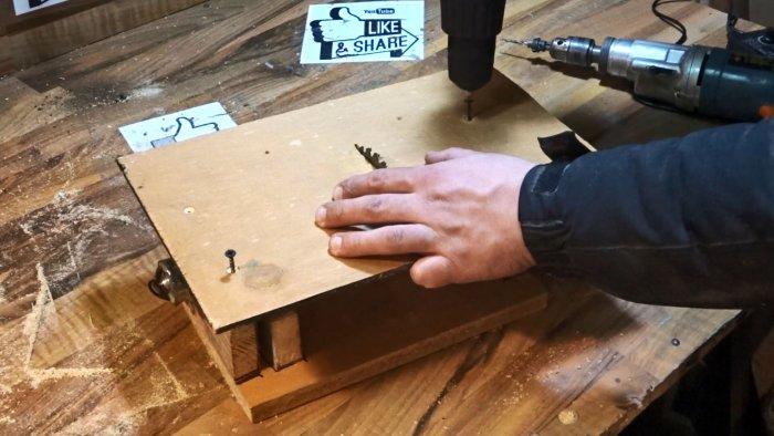 Как сделать циркулярный станок из старого шуруповерта