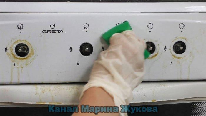 Как быстро очистить ручки газовой плиты от грязи и засохшего жира