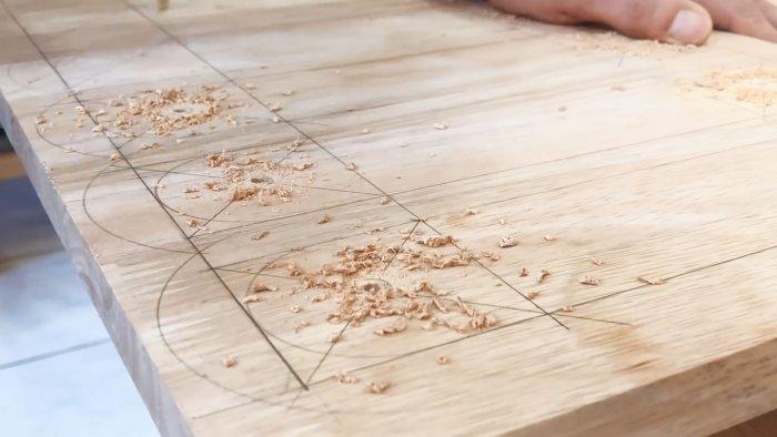 Как сделать решетку из цельного куска мебельного щита