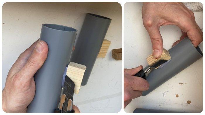 Как сделать эффектные, настенные светильники из трубы ПВХ. Красивые споты за копейки