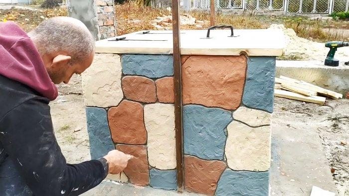 Как сделать шикарный декор под камень из плиточного клея