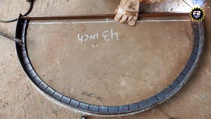 Как сделать арочную коробку повышенной прочности из стального уголка