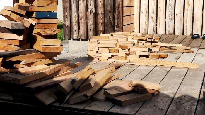 Как сделать креативный деревянный декор на стену из обрезков пиломатериалов