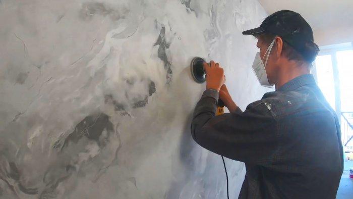 Как дешево сделать реалистичную имитацию мрамора венецианской штукатуркой